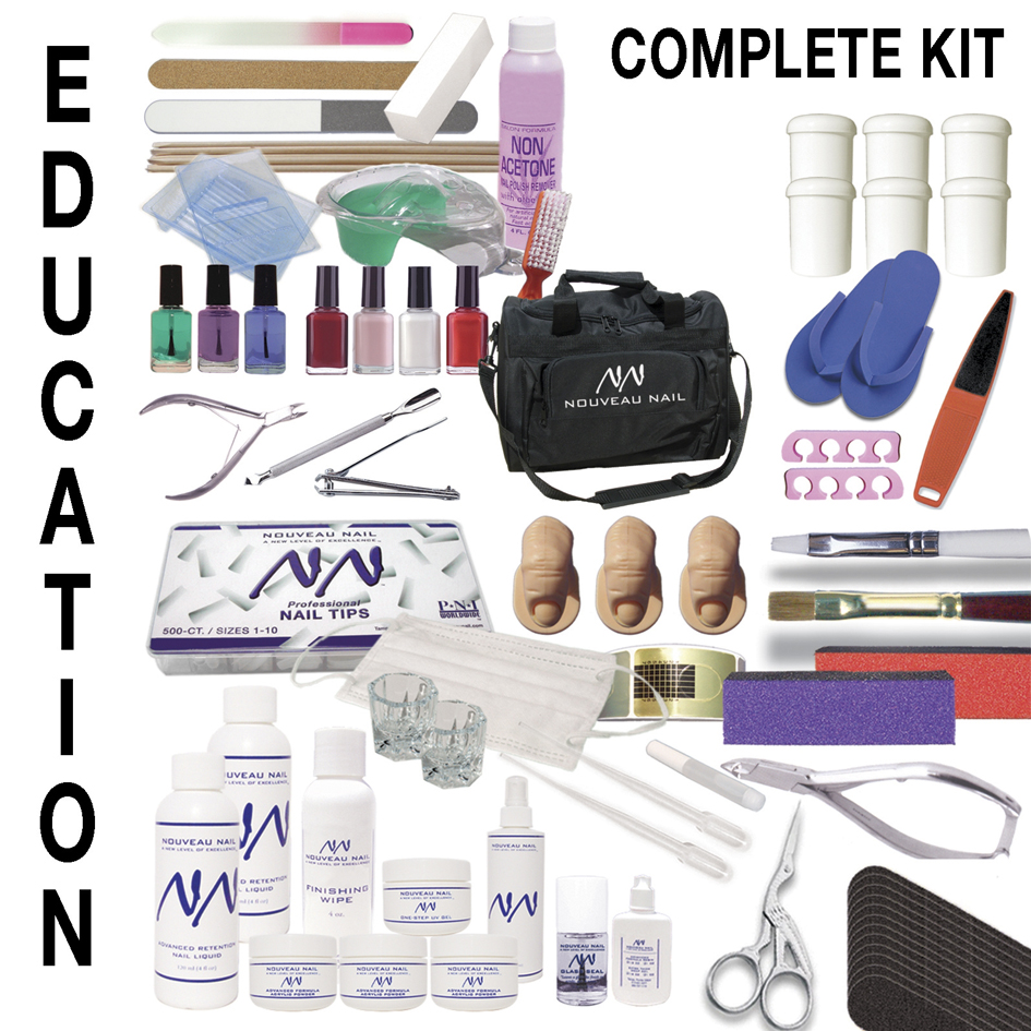 Nouveau nail academy kit complete education kit beauty for Nail salon equipment and supplies