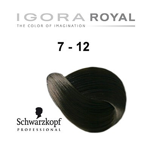 Schwarzkopf Professional Igora Royal Hair Color 7 12 Medium Blonde