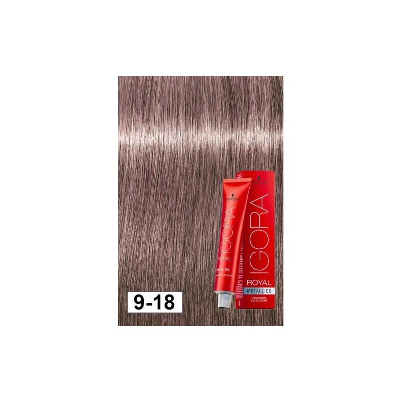 58a9cc2674 SCHWARZKOPF PROFESSIONAL IGORA ROYAL METALLICS HAIR COLOR 9-18 Extra Light  Blonde Cendre Red 60mL - Beauty Salon Hairdressing Equipment & Supplies