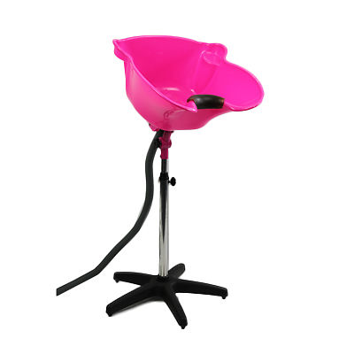 Portable Back Wash Basin Deep Sink - Hot Pink-Tilt and Height Adjustable