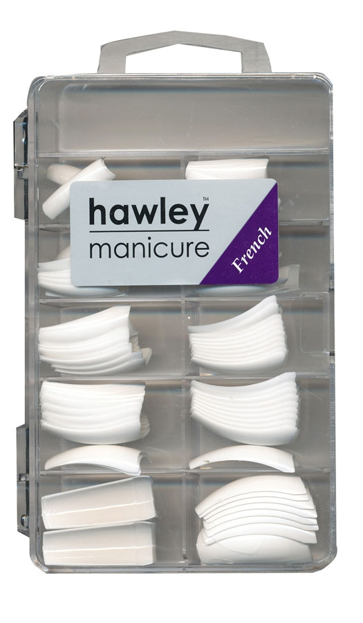 Hawley Professional Nail Tips in Tray French 100pk