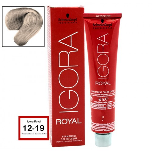 486ec1f28b SCHWARZKOPF PROFESSIONAL IGORA ROYAL HAIR COLOR 12-19 Special Blonde Cendre  Violet 60g - Beauty Salon Hairdressing Equipment & Supplies