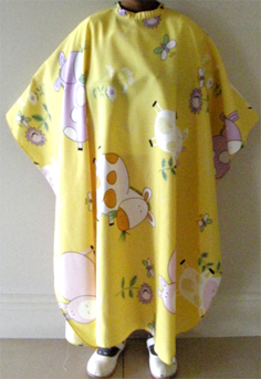 Impresso Kids Cape Yellow with Moo Print with Stud Fastening
