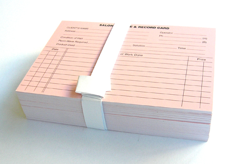 Salon Customer Record Cards (Hair & Beauty Brand)-Pack of 100
