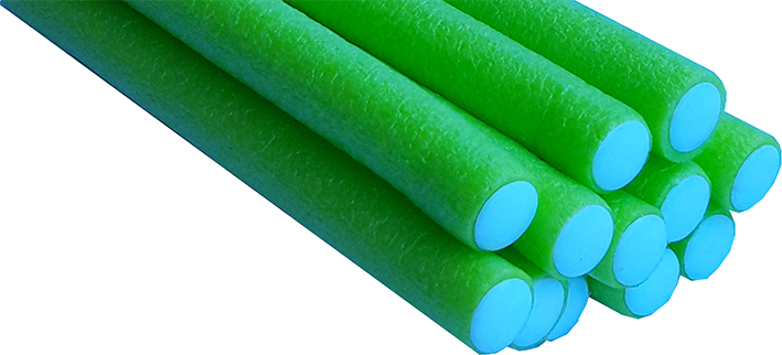 Bendy Flexible Foam Rollers Lime Green 12 pk