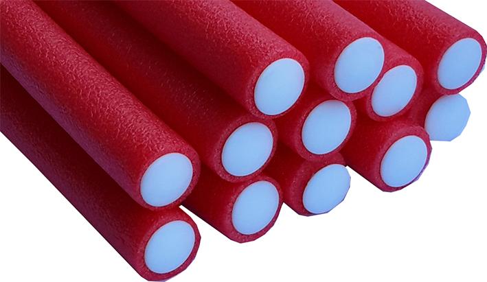 Bendy Flexible Foam Rollers Red Pk of 12