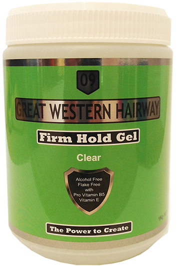 Great Western Hairway Hair Gel Firm Hold Clear 1Kg