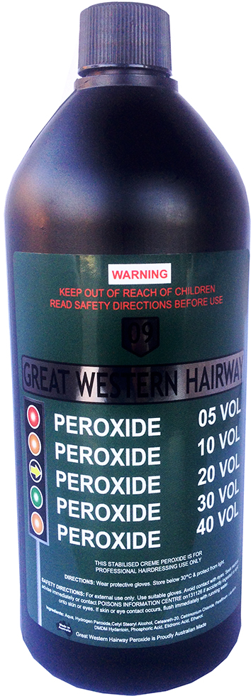 Great Western Hairway Creme Peroxide 6 % 20 Vol 990ml Made in Australia