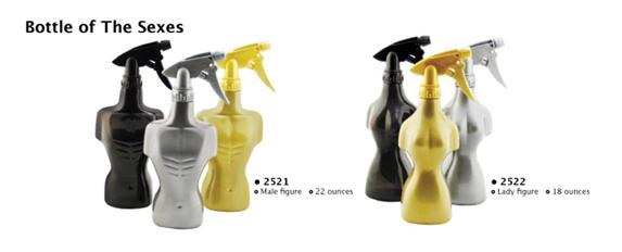 2522-Water Sprayer- Female Figure-18 Ounce-Silver