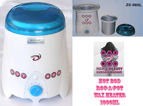 Hot Bod Roc-A-Pot Wax Heater 1000cc - only $59.95 !!!