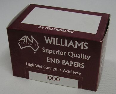 EP1000 AMW Standard Sized Superior quality End Papers- Acid Free (1000 sheets)