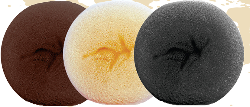 Jumbo Hair Foundation Buns-Black