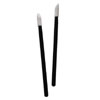 Lip Gloss Wand-White Lint Free Applicator/Black Stem-Pack of 100
