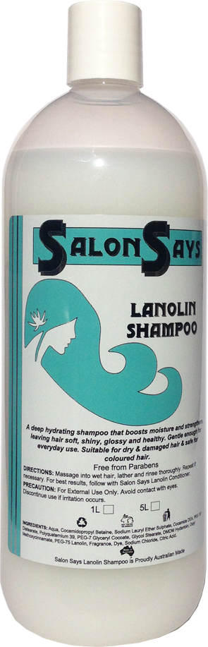 Salon Says Lanolin Shampoo 1000ml