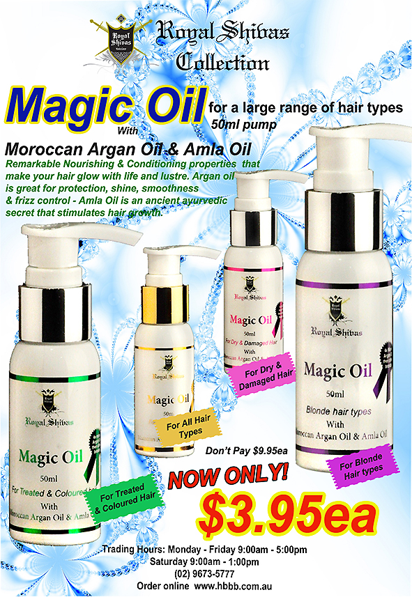 Royal Shivas Magic Oil with Moroccan Argan Oil & Amla Oil-For Blonde Hair Types-50ml