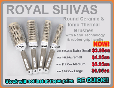Royal Shivas Round Ceramic & Ionic Thermal Brush with Nano Technology with Rubber Grip Handle-Medium