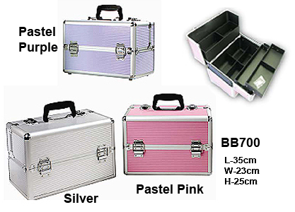 Beauty Case-Colour Pastel Pink-BB700-She-Vani-T Pastel Collection