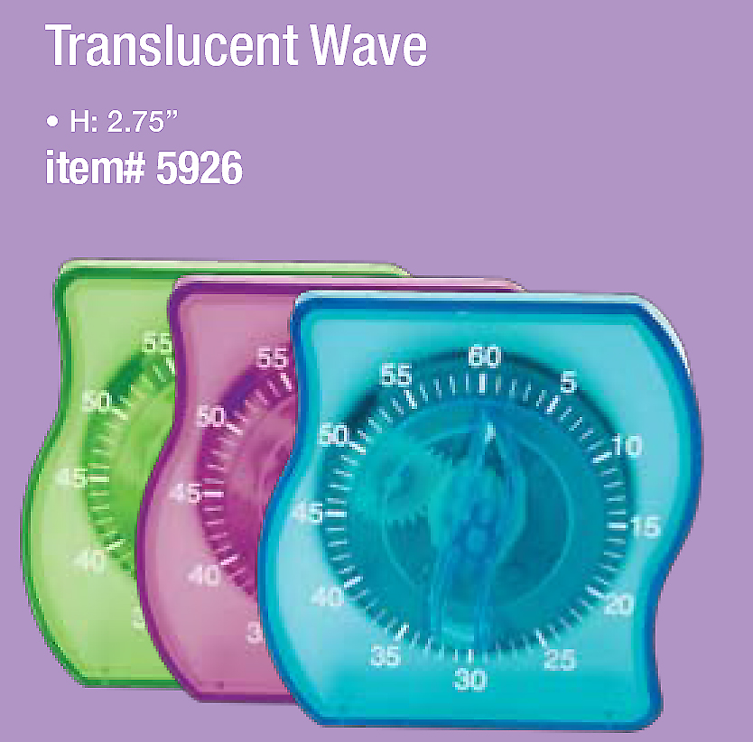 Wave Timer (60min)-Transluscent Blue