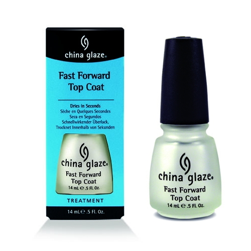 China Glaze Fast Forward Top Coat 1/2oz-Penetrates and dries all layers of lacquer rapidly.