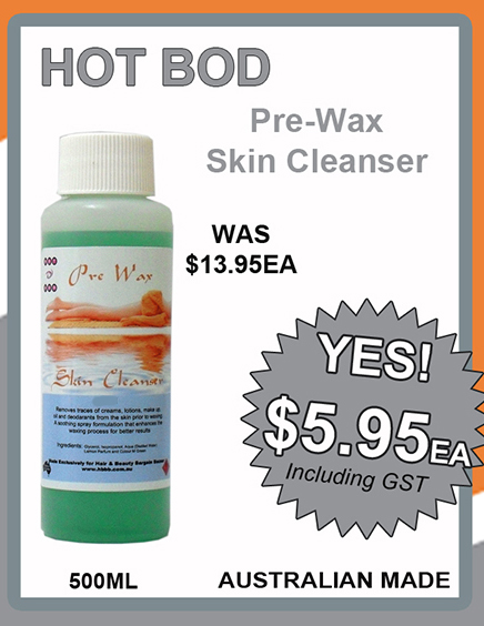 Hot Bod Pre Wax Skin Cleanser 500ml