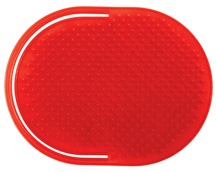 LUXOR SPECIALTY COLLECTION POCKET SLIP ON MASSAGER BRUSH - RED