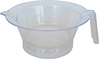 Pack of 3 Plastic Tint Bowls Translucent Clear with Rubber Grip Base