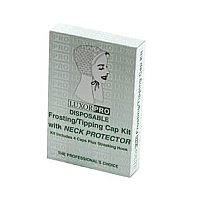 Luxor Pro Disposable Frosting/Tipping Cap Kit with Neck Protector