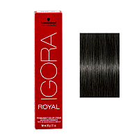 SCHWARZKOPF PROFESSIONAL IGORA ROYAL HAIR COLOR 4-13 Medium Brown Cendre Matt 60g