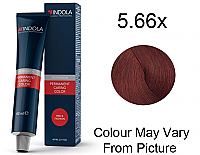 Indola Profession Permanent Hair Colour 5.66 x Light Brown Extra Red 60g