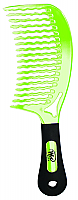 Wet Detangling Comb-New Curved Design-Green