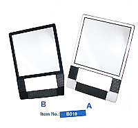 Elegance Rectangular Mirror hand Held Style (Black Only)-B010