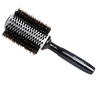 Brushworx Natural Woodgrain Ceramic Boar Bristle Radial Hairbrush - Large