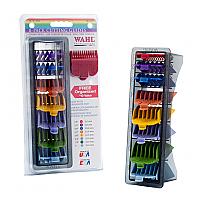 Wahl Professional 8 PK Colour Hair Cutting Guides Clipper Attachment + Organizer
