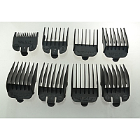 Bag of Wahl Clipper Combs - #1-8 Plastic Tab Black