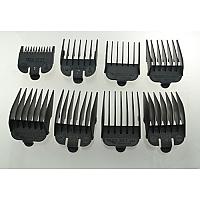 Bag of Wahl Clipper Combs - #1-8 Plastic Tab Black