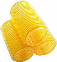 Velcro Hair Rollers 12 per pack-Yellow-Medium-60mm Length x 28mm Dia