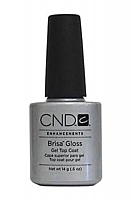 CND BRISA GLOSS GEL TOP COAT CLEAR 0.5 OZ