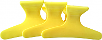 "Solid Yellow Plastic Butterfly Clips Large (3"") Packet of 12"