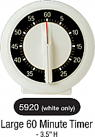 5920-Large 60min Dial Timer (White/Black)