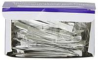 "3.5"" Plain Aluminium Duckbill Clips- 12 per pack"