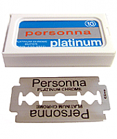 Personna Long Lasting Platinum-Chrome Super Stainless Steel Double Edge Razor Blades-Pack of 5 Blades