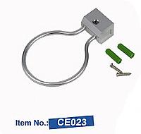 Single Ring Heavy Duty Aluminium Hair Dryer Holder