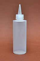 Pack of 12 x 100ml Natural Squeezer Bottle with Natural Dispensing Sprout and Inner Cap
