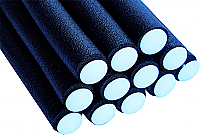 Bendy Flexible Foam Rollers Large Black 12 pk  (Dia 19mm x L 240mm)