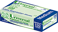 Universal Latex Gloves Low Powder Medium Pack of 100
