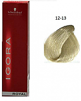 SCHWARZKOPF PROFESSIONAL IGORA ROYAL HAIR COLOR 12-13 Special Blonde Cendre Matt 60g