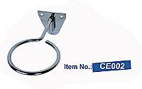 Single Ring Adjustable Diameter Stainless Steel Hairdryer Holder
