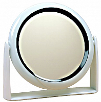 1840X-Swivel Vanity Mirror-Double Sided-5X Mag and Regular View-Dia 9""