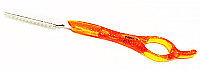 Styling Razor with Blade-Fluoro Translucent Orange Handle-Faweio