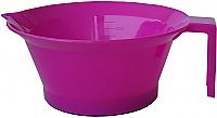 Plastic Tint Bowl Solid Hot Pink Colour 250ml